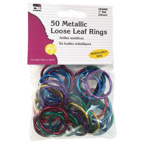 Assorted Color Metallic Book Rings, CHL85000