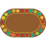 Sitting Spots™ Rug, 6' x 8'4 Oval, Muted