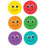 6 Smiley Faces Die Cut Accents