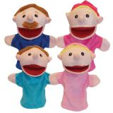 Family Puppets, Caucasian, Set of 4