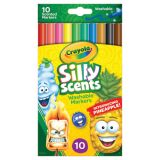 Crayola® Silly Scents™ Washable Markers, Slim, 10 colors/scents