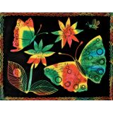 Multicolor Scratch-Art® Paper, 12 sheets, stick included
