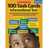 100 Task Cards, Informational Text