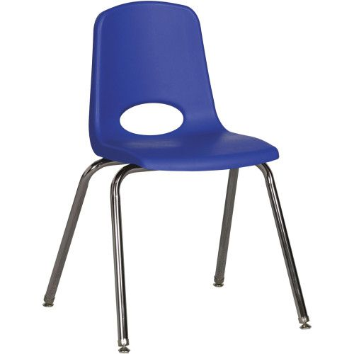 Stackable School Chair w/Chrome Legs, 18\
