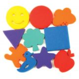 Dip & Print Sponges, Familiar Shapes, 10 Designs