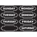 Die-Cut Magnets, Chalkboard Days of the Week