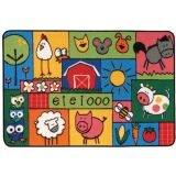 KID$ Value Rugs™, Old McDonald Farm Rug, 4' x 6'