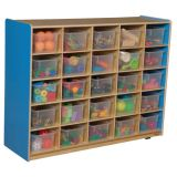 25-Tray Storage, 38H x 48W, With TranslucentTrays, Blueberry™
