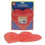 Doilies, 6 Red Hearts