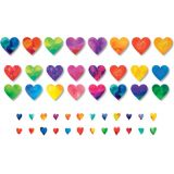 Watercolor Hearts Accents