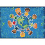 Give the Planet a Hug™ Rug, 6' x 9' Rectangle