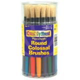 Round Handle Stubby Brushes, Set of 30