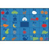 KID$ Value Line PLUS™ Rug, Alphabet Seating Rug, 6' x 9'