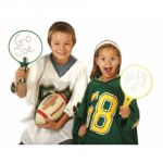 KleenSlate® Dry Erase Paddles, Round, Set of 2