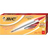 BIC® Cristal® Xtra Smooth Stic Pens, Red, Dozen