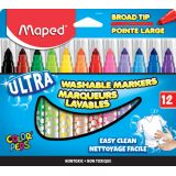 Ultra-Washable Broad Tip Markers, 12 colors