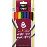 Sargent Art® Classic Markers, Fine Tip, 8 colors