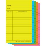 Library Cards, Brite Assorted, Pack of 50
