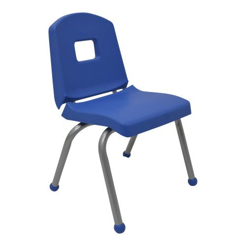 Creative Colors Split Bucket Chair 14 Seat Height Blue Seat