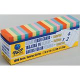 Blank Flash Cards, Assorted, 3 x 2, Box of 1,000