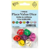 Place Value Dice, Units to Millions, Set of 7