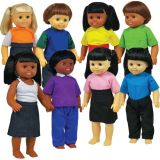 Multicultural Dolls, Set of all 8
