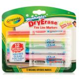 Crayola® Washable Dry Erase Markers, 12 colors