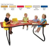 6-Seat Toddler Table, Light Oak Table Top