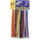 Chenille Stems, 6 assorted