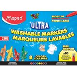 Ultra-Washable Broad Tip Markers Classpack, 200 count, 8 colors