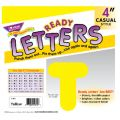 4 Uppercase Casual Solids Ready Letters®, Yellow