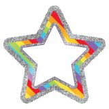 Sparkle Shine Colorful Cut-Outs®, Rainbow Glitter Stars