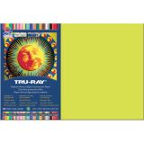 Tru-Ray® Fade-Resistant Construction Paper, 12 x 18, Brilliant Lime