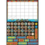 Magnetic Mini Bulletin Board Set, Superhero Calendar