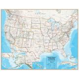 Hemispheres® Contemporary Series Laminated United States Wall Map