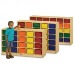 20 Tray Mobile Cubbie, With colored trays