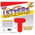 4 Uppercase Casual Solids Ready Letters®, Red