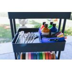 4-Tier Utility Rolling Cart, Navy