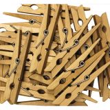 Clothespins, 24 pieces, 2 3/4L