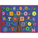 Alphabet Leaves™ Rug, 5'4 x 7'8 Rectangle, Bold Colors