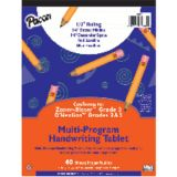 Handwriting Paper, 8 x 10 1/2, D'Nealian™ (2 & 3), Zaner-Bloser™ (3), 40 sheet tablet