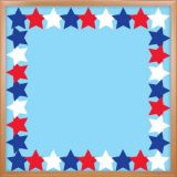Patriotic Stars Die Cut Border