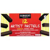 Sargent Art® Square Chalk Pastels, 12 charcoal colors