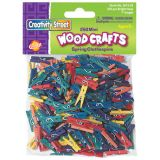 Mini Clothespins, Bright Hues