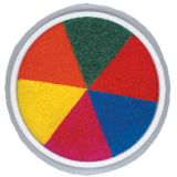 Jumbo Circular Washable Stamp Pad, 6-in-1 Rainbow
