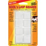 Magic Mounts® Hook 'n Loop, 7/8 Squares, 60 sets