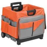 MemoryStor® Rolling Cart & Organizer Bag, Orange