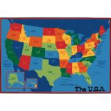 KID$ Value Line PLUS™ Rug, USA Map Rug, 6' x 9'