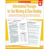 Informational Passages for Text Marking & Close Reading, Grade 6