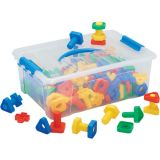 Twist & Lock Nuts & Bolts, 64 pieces